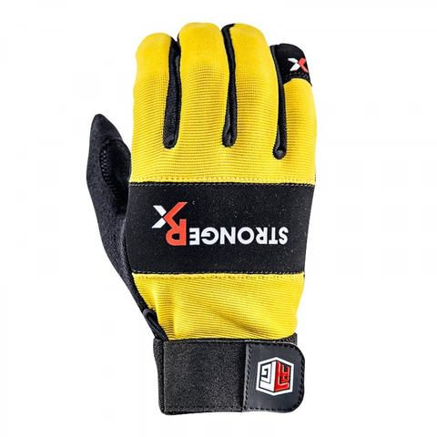 StrongerRX UGlRtgYLXS RTG WOD Fitness Gloves Yellow - Extra Small