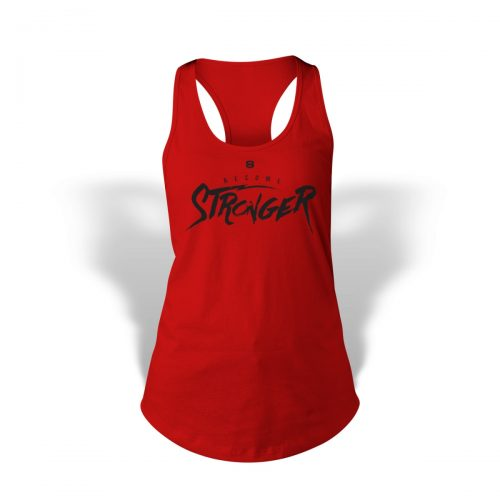 StrongerRX WTtBecStrRDSM Become Stronger Tank Top for Women Red - Small