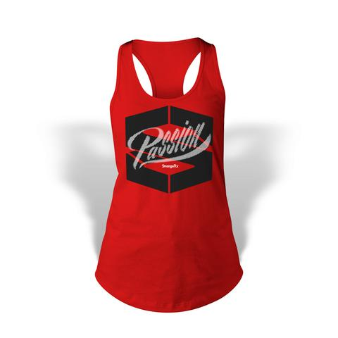 StrongerRX WTtPassionRDSM Passion Tank Top for Women Red - Small