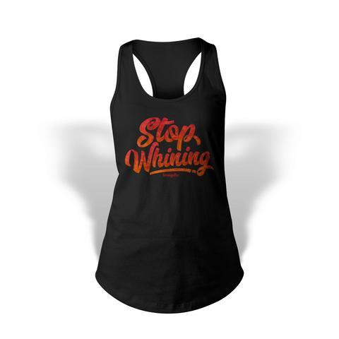 StrongerRX WTtStpWhnBKSM Stop Whining Tank Top for Women Black - Small