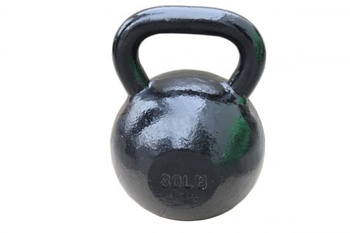 Sunny Health & Fitness NO. 067-80 Black Kettle Bell - 80 lbs