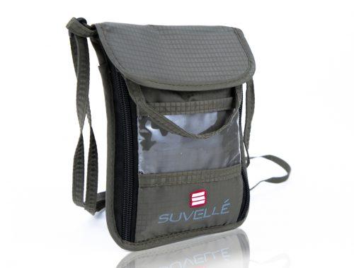 Suvelle NP77KH RFID Neck Pouch Organizer & Travel Wallet - Khaki