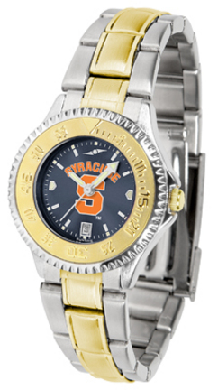 Syracuse Orange (Orangemen) Competitor AnoChrome Ladies Watch with Two-Tone Band