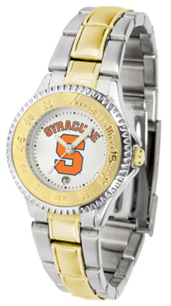 Syracuse Orange (Orangemen) Competitor Ladies Watch with Two-Tone Band