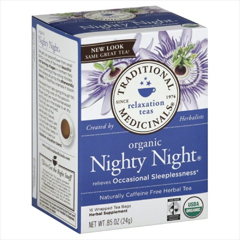 TRADITIONAL MEDICINALS TEA NIGHTY NIGHT-16 BG -Pack of 6