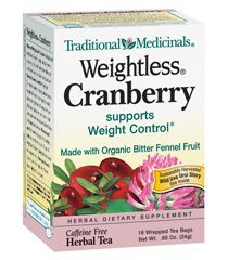 TRADITIONAL MEDICINALS TEA WEIGHTLESS CRAN-16 BG -Pack of 6
