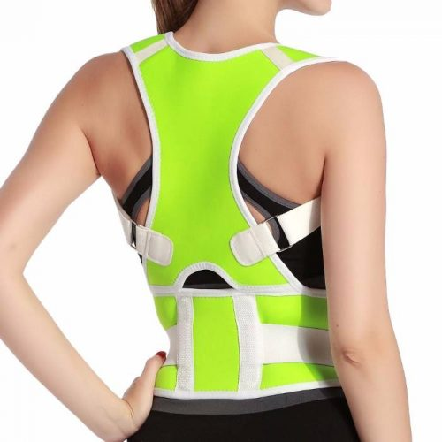 Tagco USA EF-POBPCB-GRE-XL Adjustable Posture-Support Brace & Double-Compression Belt Green - Extra Large & 2XL