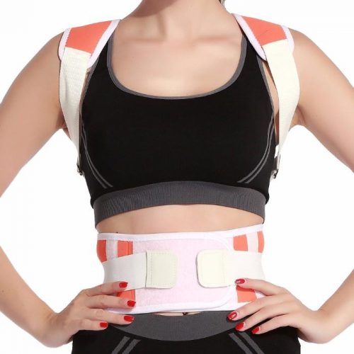 Tagco USA EF-POBPCB-ORA-XL Adjustable Posture-Support Brace & Double-Compression Belt Orange - Extra Large & 2XL