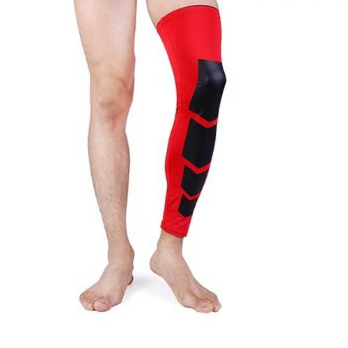 Tagco USA EF-RONSA-RED-M Unisex Full-Length Knee & Calf Compression Sleeves Red - Small & Medium Pack of 2