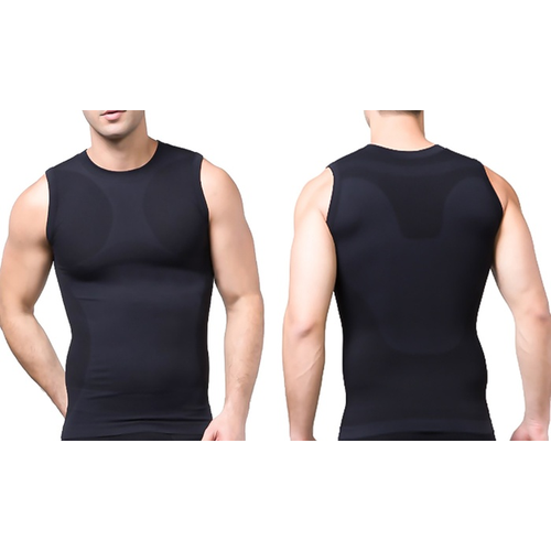 Tagco USA TI-QDCS-BLA-L Mens Quick Dry Compression Shirt Black - Large