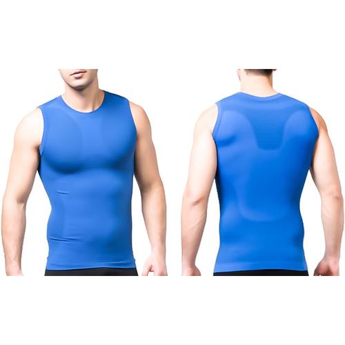 Tagco USA TI-QDCS-BLU-XL Mens Quick Dry Compression Shirt Blue - Extra Large