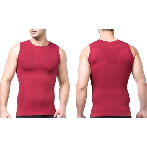 Tagco USA TI-QDCS-RED-M Mens Quick Dry Compression Shirt Red - Medium