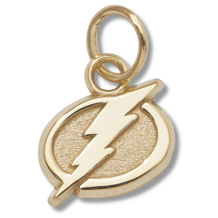 "Tampa Bay Lightning 3/8"" Primary Logo Charm - 14KT Gold Jewelry"