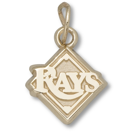 "Tampa Bay Rays 3/8"" New ""Rays"" Logo Charm - 14KT Gold Jewelry"