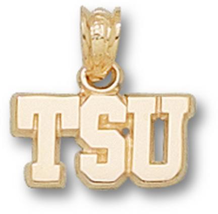 "Tarleton State Texans ""TSU"" 1/4"" Pendant - 14KT Gold Jewelry"
