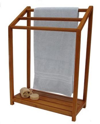 Teak Towel Stand