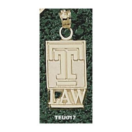 "Temple Owls ""T with Law"" Pendant - 10KT Gold Jewelry"