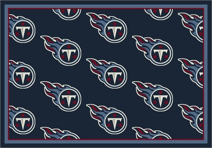 "Tennessee Titans 3' 10"" x 5' 4"" Team Repeat Area Rug (Navy Blue)"