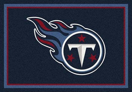 "Tennessee Titans 3' 10"" x 5' 4"" Team Spirit Area Rug (Navy Blue)"