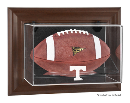 Tennessee Volunteers Brown Framed Wall Mountable Logo Football Display Case