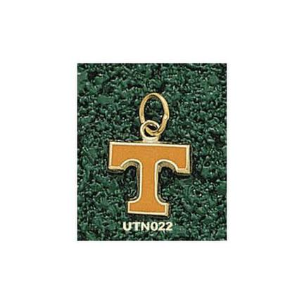 "Tennessee Volunteers Enamel ""Power T"" 3/8"" Charm - 14KT Gold Jewelry"