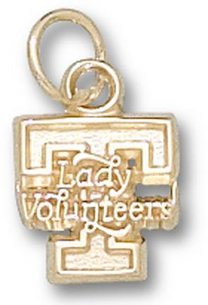 "Tennessee Volunteers ""T Lady Volunteers"" Charm - 14KT Gold Jewelry"