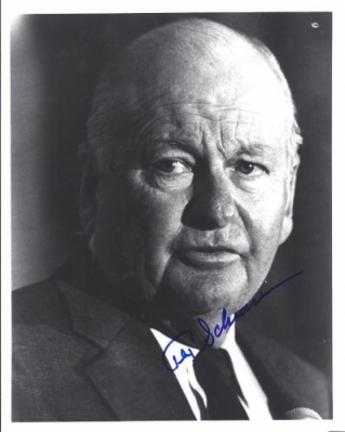 "Tex Schramm Autographed Dallas Cowboys 8"" x 10"" Photograph Hall of Famer (Unframed)"