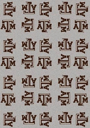"Texas A & M Aggies 3' 10"" x 5' 4"" Team Repeat Area Rug"