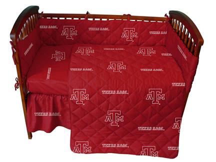 Texas A & M Aggies 5 Piece Baby Crib Set