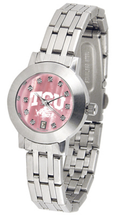 Texas Christian Horned Frogs Dynasty Ladies Watch with Mother of Pearl Dial