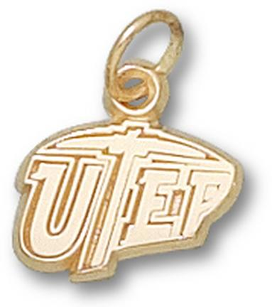"Texas (El Paso) Miners ""UTEP"" 3/8"" Charm - 14KT Gold Jewelry"