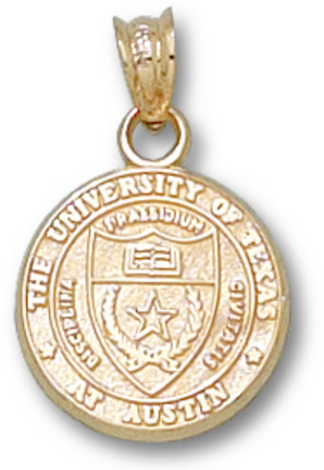"Texas Longhorns 1/2"" ""Seal"" Pendant - 10KT Gold Jewelry"
