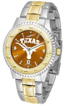 Texas Longhorns Competitor AnoChrome Two Tone Watch