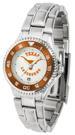 Texas Longhorns Competitor Ladies Watch with Steel Band