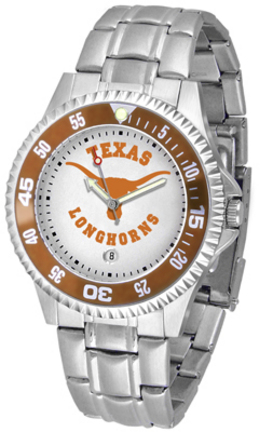 Texas Longhorns Competitor Men's Watch with Steel Band