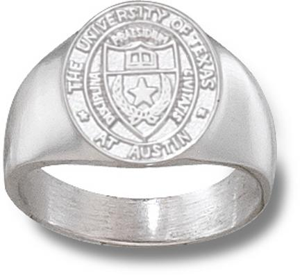 "Texas Longhorns Oval ""Seal"" Men's Ring Size 10 - Sterling Silver Jewelry"
