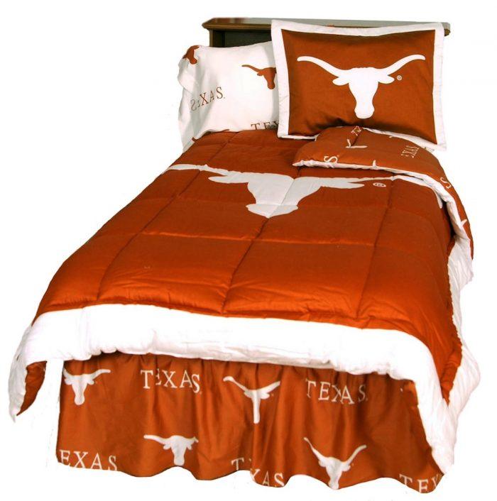 Texas Longhorns Reversible Comforter Set (King)