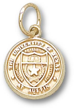 "Texas Longhorns ""Seal"" 7/16"" Charm - 14KT Gold Jewelry"