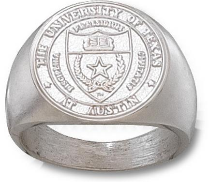 """Texas Longhorns """"Seal"""" Men's Ring Size 10 1/2 - Sterling Silver Jewelry"""