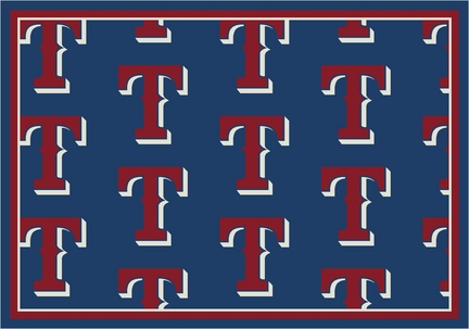 "Texas Rangers 2' 1"" x 7' 8"" Team Repeat Area Rug Runner"