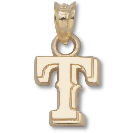 "Texas Rangers 3/8"" ""T"" Pendant - 14KT Gold Jewelry"