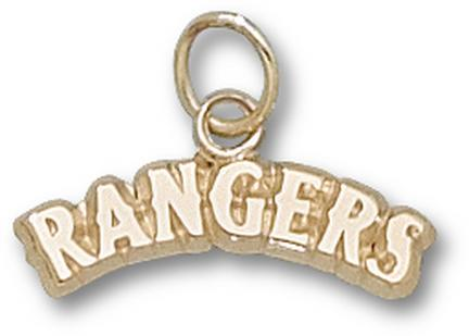 "Texas Rangers Arched ""Rangers"" 3/16"" Charm - 10KT Gold Jewelry"