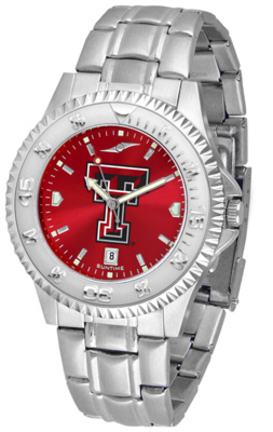 Texas Tech Red Raiders Competitor AnoChrome Men's Watch with Steel Band