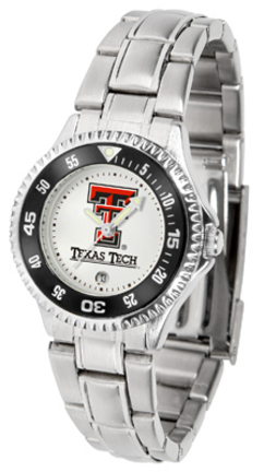 Texas Tech Red Raiders Competitor Ladies Watch with Steel Band