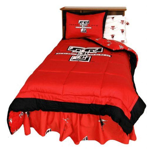 Texas Tech Red Raiders Reversible Comforter Set (Queen)