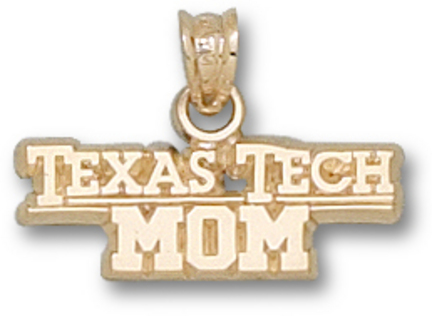 "Texas Tech Red Raiders ""Texas Tech Univ Mom"" Pendant - 10KT Gold Jewelry"
