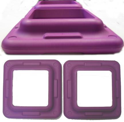 The Step - Original Health Club Step - Violet Step Risers - 2 Pack