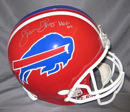 Thurman Thomas Buffalo Bills NFL Autographed Mini Football Helmet with HOF '07 Inscription