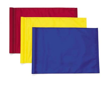 Tie-Style Solid-Color Golf Flags - Set of 9