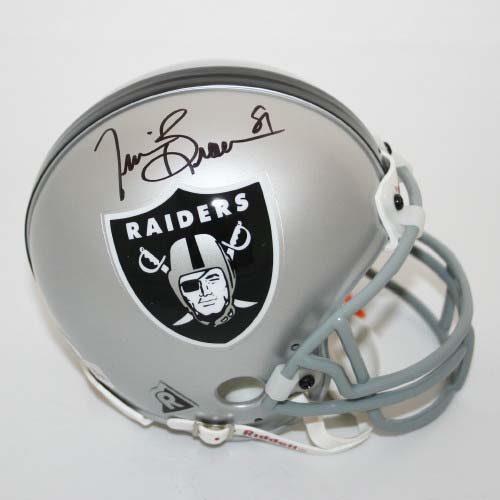 Tim Brown Autographed Oakland Raiders Riddell Mini Helmet